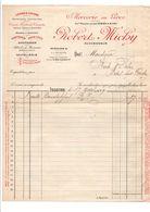 FACTURE ROBERT MICHY MERCERIE EN GROS à ISSOIRE PUY DE DOME 1929 - France