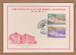 AC - TURKEY POSTAL STATIONARY  - ASPENDOS BELKIS FESTIVAL ANTALYA, 01 MAY 1959 - 1921-... Republic