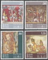 Sri Lanka. 1973 Rock And Temple Paintings. MNH Complete Set. SG 599-602 - Sri Lanka (Ceylon) (1948-...)
