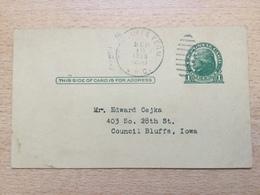 K5 USA Etats-Unis Stationery Entier Postal Ganzsache Preprinted Psc Local Used In Bluffs - Ganzsachen