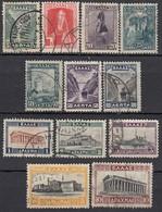 GRIECHENLAND 1927 -  MiNr: 304-317 - 12 Werte  Used - Griechenland