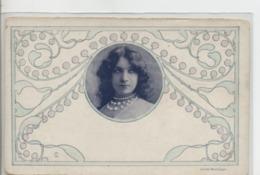 Illustrateur - CHRISTIANSEN - Portrait De Femme: Art Nouveau - Cliché Reutlinger. Dos Simple - Christiansen