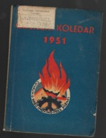 SLOVENIA, FIREFIGHTER CALENDAR, GASILSKI KOLEDAR, 1951 - Alte Bücher