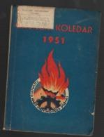 SLOVENIA, FIREFIGHTER CALENDAR, GASILSKI KOLEDAR, 1951 - Books, Magazines, Comics