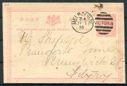 1886 Victoria Australia Stationery Postcard. Melbourne - Fitzroy - 1850-1912 Victoria