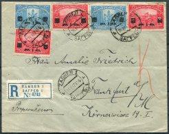 1924 Croatia Zagreb Registered Cover - Frankfurt Germany. Provisional Overprints. Maribor. Medical University - Croatia