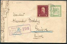 1917 Bosnia Uprated Stationery Postcard. Feldpost Feldkirch Censor - Geneva Switzerland - Bosnia Herzegovina
