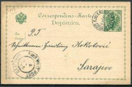 1905 Bosnia Stationery Postcard. Feldpost Fieldpost Military Gorazda Militarpost - Sarajevo. - Bosnië En Herzegovina