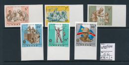 CONGO KINSHASA ZAIRE 1966 ISSUE COB 605/10 IMPERFORATED MNH - Democratische Republiek Congo (1964-71)