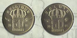50 Cent 2001  Frans+vlaams * Uit Muntenset * FDC - 01. 50 Centimes