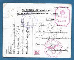 PRISONER OF WAR P.O.W. N.47 GREAT BRITAIN PASSED P.W. 1943 GEPRUFT OBERKOMMANDO - Documents