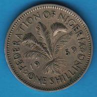 NIGERIA 1 SHILLING 1959 KM# 5 Elizabeth II - Nigeria