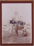 PHOTO ANCIENNE,63,PUY DE DOME,AULNAT,1900,HABITANTS DE L 'EPOQUE,ESPRIT TAQUIN ET FAMILLE - Places