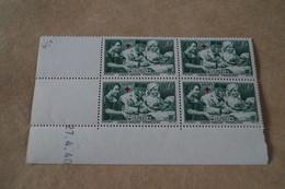 RARE,Superbe Feuillet De 4 Timbres,strictement Neuf Avec Gomme,1940,Croix Rouge,N° 459 - France
