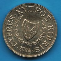 CYPRUS 2 CENTS 2004 KM# 54 - Cyprus