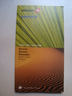SWISSAIR / SABENA ESPAÑA / PORTUGAL. HORARIO / HORÁRIO / TIMETABLE - SWITZERLAND / BELGIQUE, 2000. - Horaires