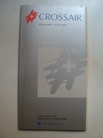 CROSSAIR FLUGPLAN / HORAIRE / ORARIO / TIMETABLE - SWITZERLAND, SCHWEIZ, 2000. - Timetables