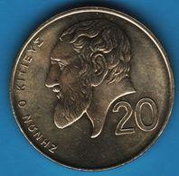 CYPRUS 20 CENTS 2004 KM# 62  Zénon De Citium - Chypre