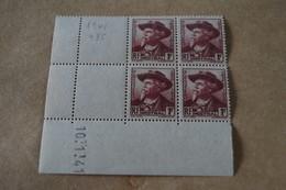 Superbe Feuillet De 4 Timbres,strictement Neuf Avec Gomme,1941,Mistral,N° 495 - Neufs