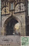 PRAG. EINGANG IN DIE ZELTNERGASSE DURCH DEN PULVERTURM. D KOSINER & CO. CIRCULEE YEAR 1906 TO TANDIL ARGENTINE- BLEUP - Tsjechië