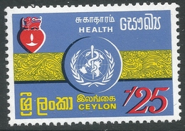 Ceylon. 1971 World Health Day. 20c MNH. SG 589 - Sri Lanka (Ceylon) (1948-...)