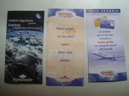 SPANAIR. VUELOS REGULARES / DESTINOS - ESPAÑA / SPAIN, 2000 APROX. - Timetables