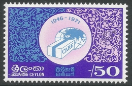 Ceylon. 1971 20th Anniv Of Co-operative For American Relief Everywhere. 50c MNH. SG 588 - Sri Lanka (Ceylon) (1948-...)
