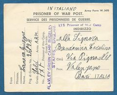 175 PRISONER OF WAR CAMP FLAXLEY GREEN CAMP RUGELEY STAFFS. ENGLAND 1946 PRIGIONIERI DI GUERRA - Documents