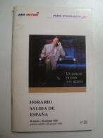 AIR INTER / AIR FRANCE HORARIO SALIDA DE ESPAÑA - FRANCE, 1995. - Timetables