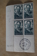 Superbe Feuillet De 4 Timbres,strictement Neuf Avec Gomme,1944,Bataille D'Isly 1844,N° 662 - Neufs