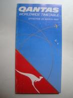 QANTAS WORLWIDE TIMETABLE - AUSTRALIA, 1995. - Timetables