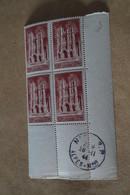 Superbe Feuillet De 4 Timbres,strictement Neuf Avec Gomme,1944,Amiens,N° 665 - Neufs