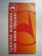 TURKISH AIRLINES / TÜRK HAVA YOLLARI - TURKEY, 1995. - Timetables
