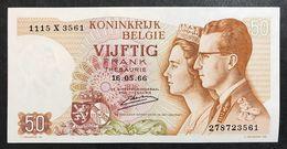 Belgio Belgium  50 Francs 1966 Fds Lotto 1940 - [ 2] 1831-... : Belgian Kingdom