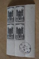 Superbe Feuillet De 4 Timbres,strictement Neuf Avec Gomme,1944,Angoulème,N° 663 - Neufs