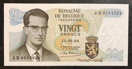 Belgio Belgium  20 Francs 1964 Fds Lotto 1941 - [ 2] 1831-... : Belgian Kingdom