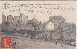 AUBAZINE RUINES DE L'ANCIEN COUVENT A COTE CONTIGU LE NOUVEAU 1909 TBE - France