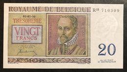 Belgio Belgium  20 Francs 1950 Sup/fds Lotto 1942 - [ 2] 1831-... : Belgian Kingdom