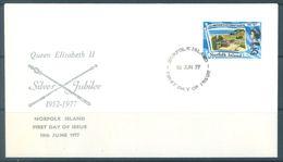 NORFOLK ISLAND - FDC - 10.6.1977  - SILVER JUBILEE ELIZABETH II - Yv 197 ASC 198 - Lot 17481 - Ile Norfolk