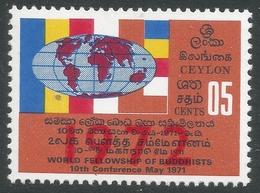 Sri Lanka. 1972 10th World Fellowship Of Buddhists Conf. 5c MNH. SG 592 - Sri Lanka (Ceylon) (1948-...)