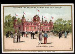 Chromo Au Bon Marche, MI1, Pavillon Central Des Colonies - Au Bon Marché