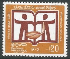 Sri Lanka. 1972 International Book Year. 20c MNH. SG 593 - Sri Lanka (Ceylon) (1948-...)