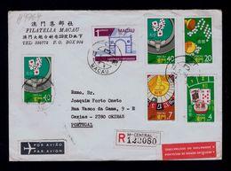 Games Jeux De Hasard Gambling Glücksspiele Casino Macao Macau Cover 1988 Portugal #9764 - Jeux