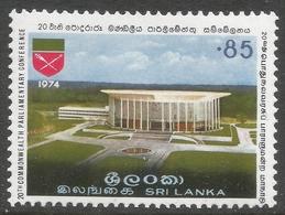 Sri Lanka. 1974 20th Commonwealth Parliamentary Conference. 85c MNH. SG 604 - Sri Lanka (Ceylon) (1948-...)