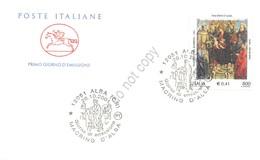 FDC Cavallino Italia Repubblica 2001 - Madonna Con Il Bambino - NVG ** - Francobolli