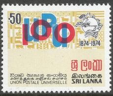 Sri Lanka. 1974 Centenary Of UPU. 50c MNH SG 606 - Sri Lanka (Ceylon) (1948-...)