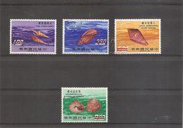 """Formose-taiwan - Coquillages ( 738/741 Surchargés """"SPECIMEN"""" à Voir) - Unused Stamps"""