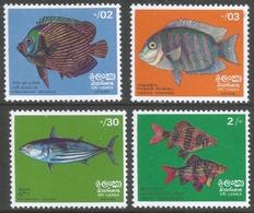 Sri Lanka. 1972 Fish. MNH Complete Set. SG 594-597 - Sri Lanka (Ceylon) (1948-...)