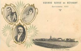 18-4484 : GRANDE REVUE MILITAIRE DE BETHENY. SEPTEMBRE 1901. CARTE PRECURSEUR. - Bétheny
