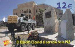 TARJETA DEL EJERCITO ESPAÑOL EN BOSNIA DE TIRAJE 50201 Y FECHA 06/04 - Armada